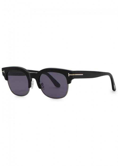 Harry Clubmaster-Style Sunglasses in Black