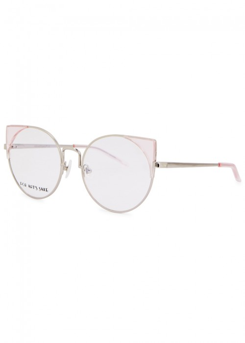 370db9c9a27 For Art S Sake Brisky Cat-Eye Optical Glasses In Pink