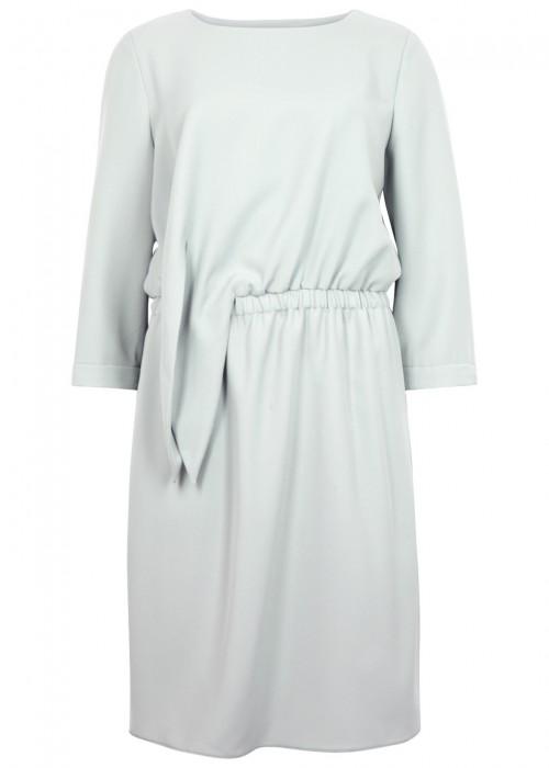 Emporio Armani  LIGHT GREY TIE-FRONT DRESS