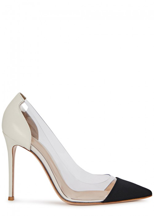 Gianvito Rossi  PLEXI 105 LEATHER AND PERSPEX PUMPS