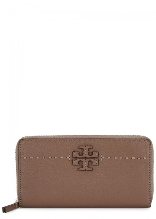 MCGRAW TAUPE LEATHER WALLET