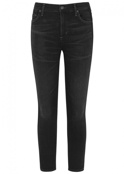 CITIZENS OF HUMANITY CITIZENS OF HUMANITY ROCKET CROPPED SKINNY JEANS