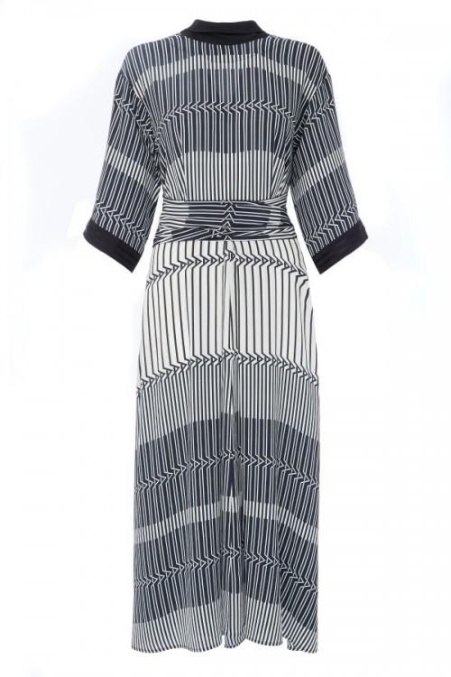 Amanda Wakeley TOKYO GEOMETRIC PRINT DRESS