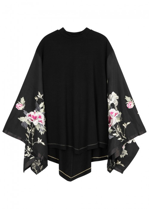 SYDNEYS TUESDAY EMBROIDERED JERSEY TOP