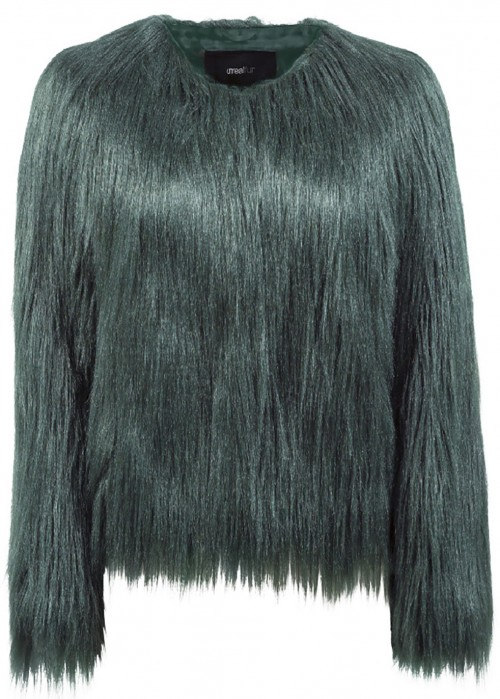 Unreal Fur UNREAL DREAM JACKET IN FOREST GREEN