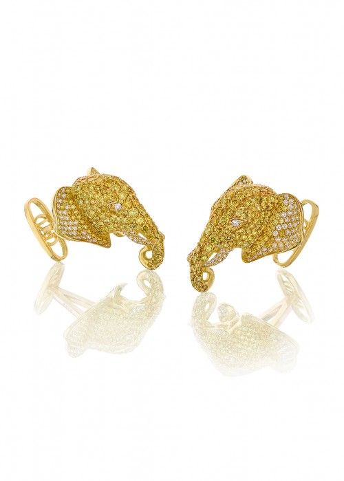OH MY GOT CUFFLINKS GOLDEN ELEPHANT