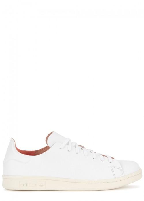 Adidas Originals  ADIDAS ORIGINALS STAN SMITH NUDE WHITE LEATHER TRAINERS