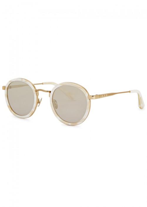 Zero Ivory Round-Frame Sunglasses