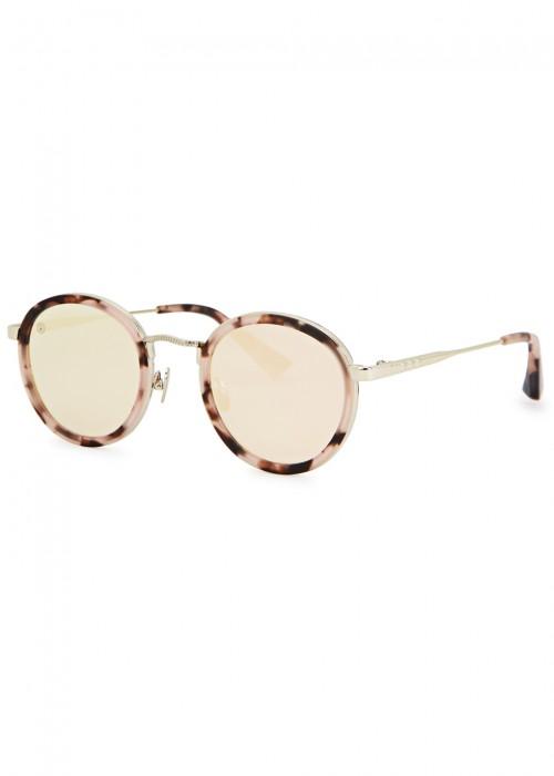 Zero Tortoiseshell Round-Frame Sunglasses