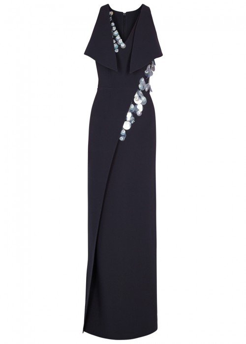 Safiyaa NAVY EMBELLISHED GOWN