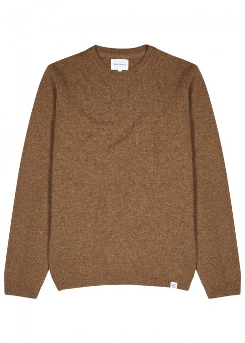 Norse Projects  SIGFRED BROWN MÉLANGE WOOL JUMPER