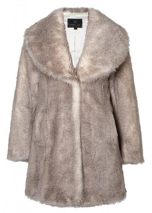 Unreal Fur ELIXIR COAT IN NEUTRAL