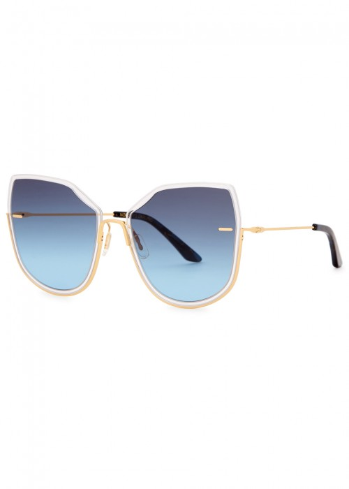 MOY ATELIER NOBODY'S DARLING 12KT GOLD-PLATED SUNGLASSES