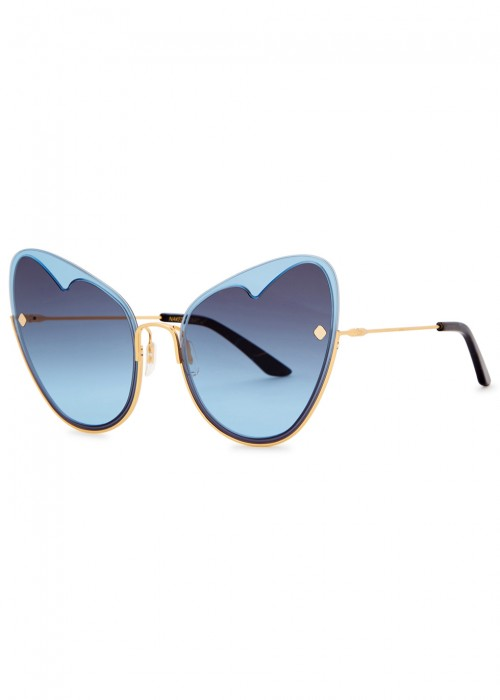 NAKED HEART 12KT GOLD-PLATED SUNGLASSES