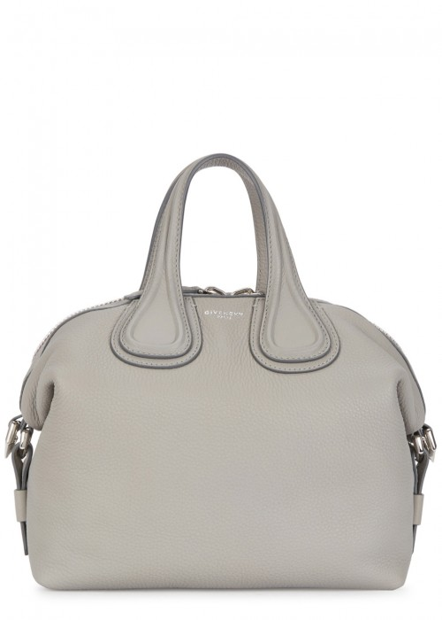NIGHTINGALE SMALL GREY LEATHER TOTE