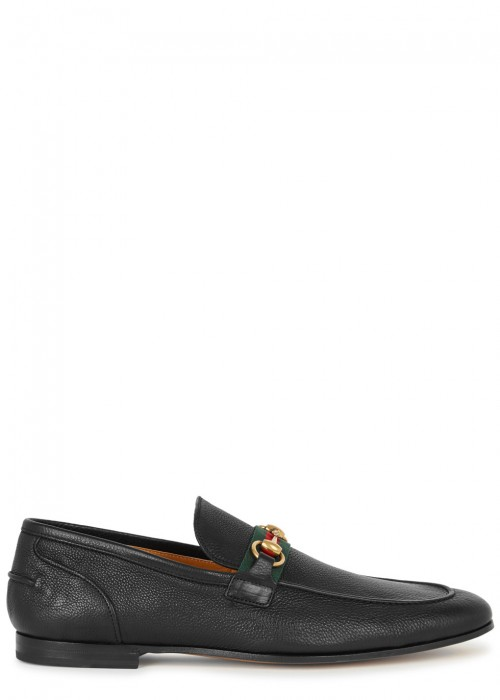 Gucci  ELANOR LEATHER LOAFERS