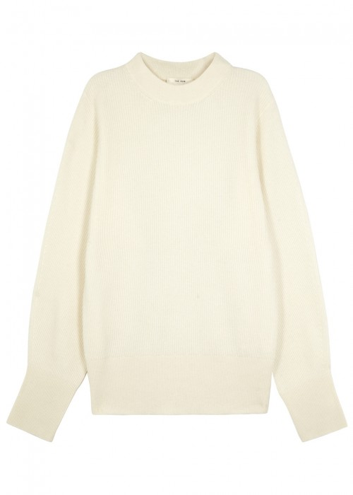 The Row  NIX IVORY CASHMERE JUMPER