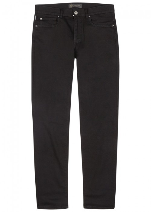 Versace BLACK SLIM-LEG JEANS