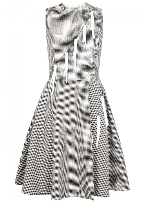 Sandy Liang MARNIE TIE-EMBELLISHED GINGHAM DRESS