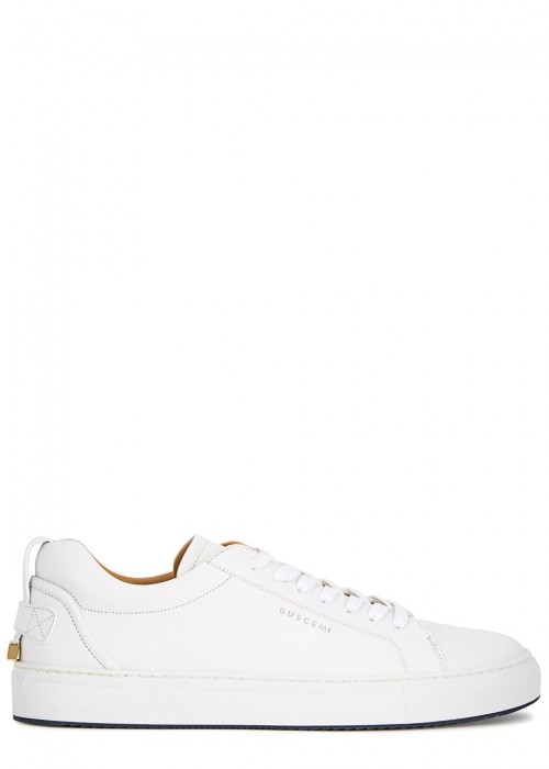 Buscemi LYNDON WHITE LEATHER TRAINERS