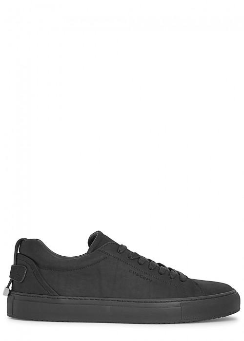 Buscemi  LYNDON BLACK LEATHER TRAINERS