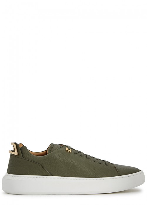 Buscemi  50MM ALCE OLIVE LEATHER TRAINERS