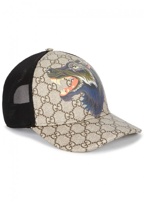 Printed Coated-canvas And Mesh Baseball Cap Gucci KwBICH7NYw