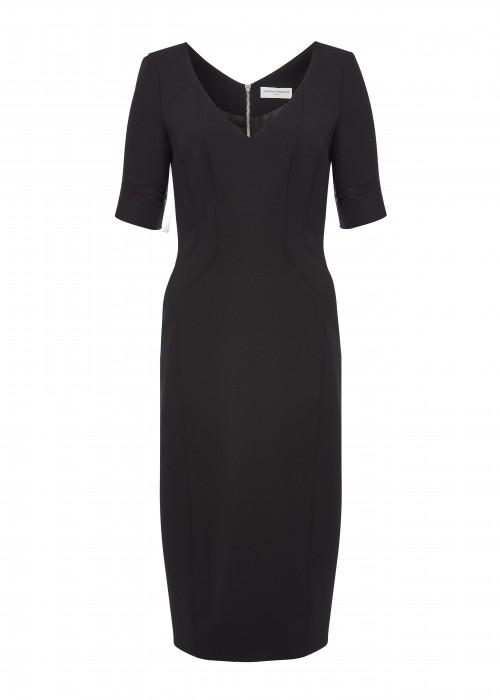 Amanda Wakeley BLACK SCULPTED SHORT DRESS