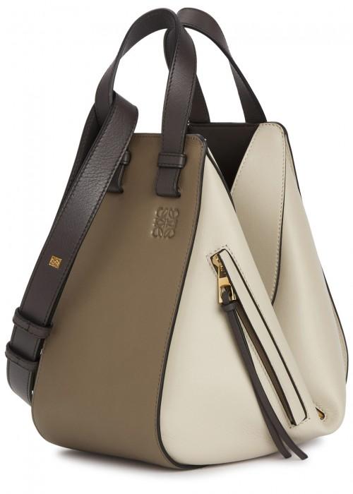 Hammock medium grained-leather bag