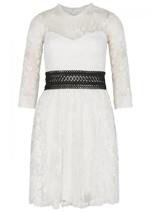Three Floor WEISS WHITE BRODERIE ANGLAISE DRESS