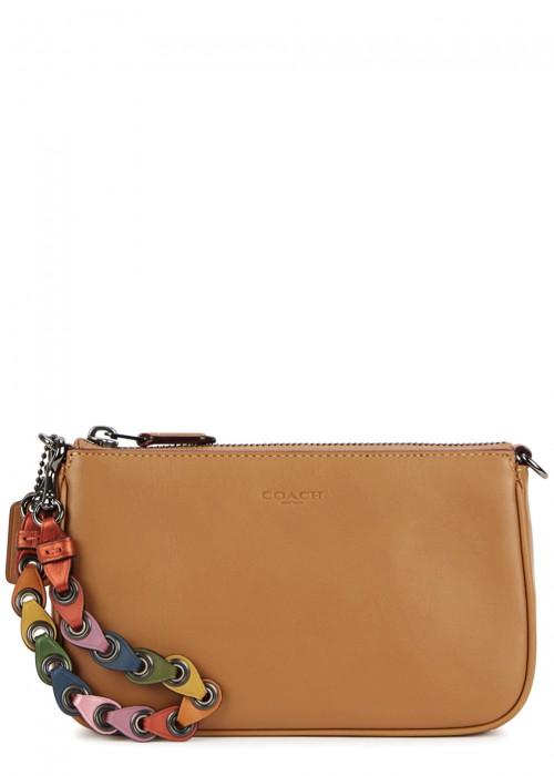 Nolita 19 Camel Leather Clutch in Tan