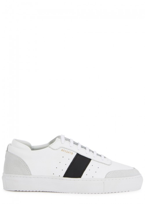 AXEL ARIGATO Striped Leather Low-Top Sneakers in White/Black
