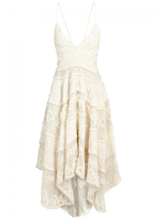 Zimmermann Cottons PAINTED HEART COTTON AND SILK BLEND DRESS