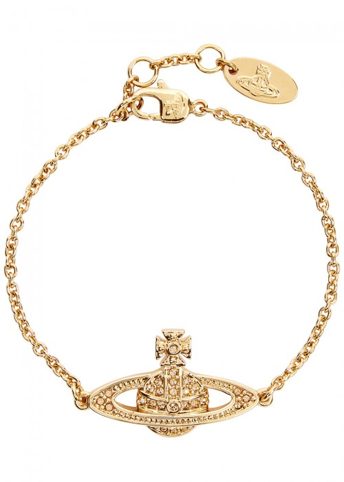 MINI BAS RELIEF GOLD TONE BRACELET