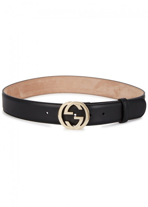 GG MONOGRAMMED LEATHER BELT