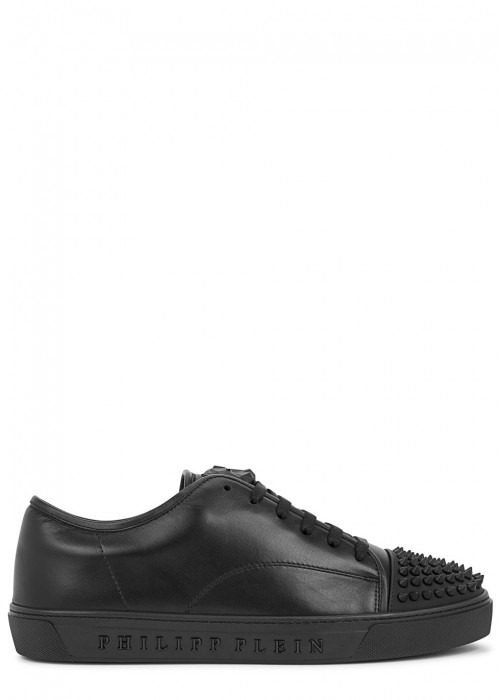 Philipp Plein  TAKING MY TIME STUDDED LEATHER TRAINERS