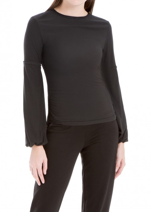 Leon Max  SAND-WASHED MODAL LONG-SLEEVE TOP