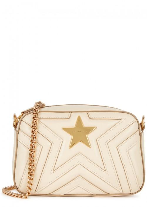 Stella Mccartney Stella Star Small Cream Shoulder Bag Modesens