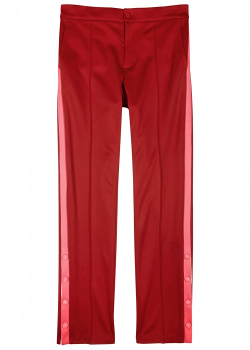 slim fit contrast-stripe trousers - Red Valentino QKoegpI