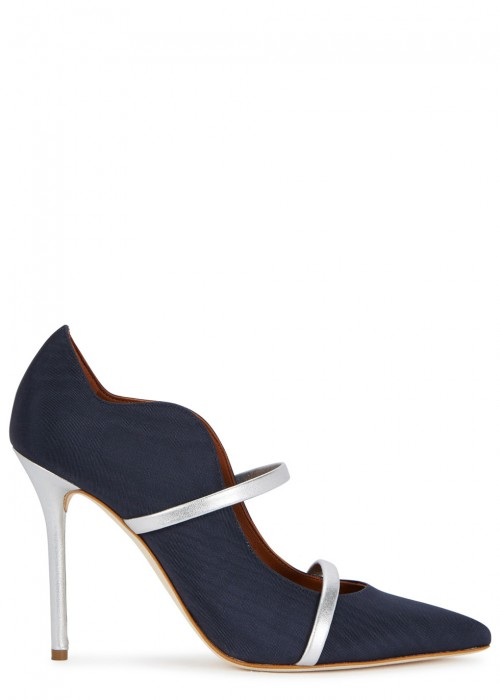 Malone Souliers  MAUREEN NAVY FAILLE PUMPS