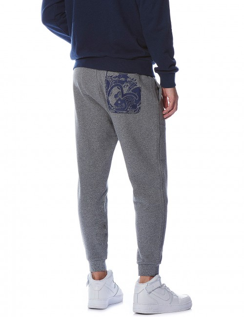 EVISU SEAGULL FISHERMAN PRINT SWEATPANTS