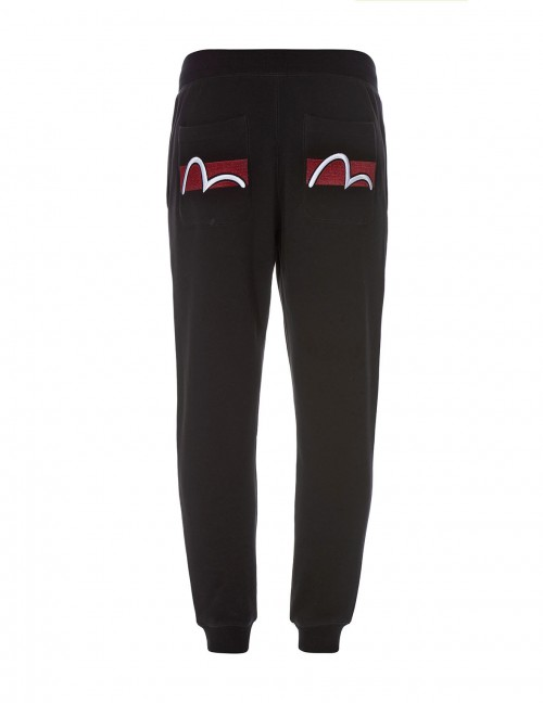 EVISU SLIM-FIT SEAGULL EMBROIDERED SWEATPANTS
