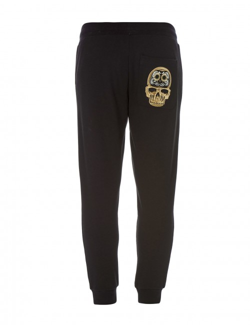 EVISU SLIM-FIT DARUMA SKULL EMBROIDERED SWEATPANTS