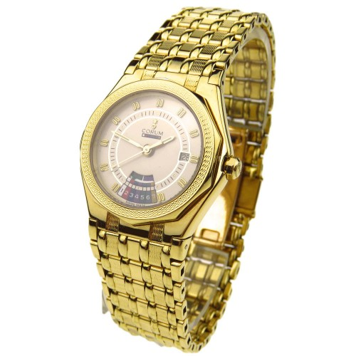 CORUM WATCHES CORUM LADY ADMIRALS CUP 18K GOLD QUARTZ 91.115.56