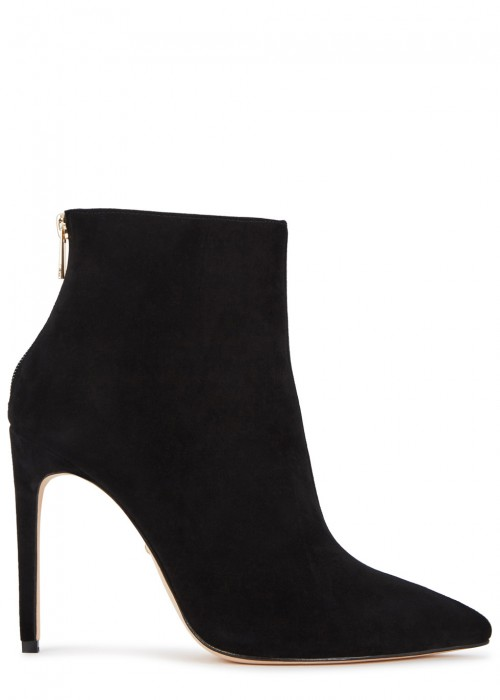 Raye TATI BLACK SUEDE ANKLE BOOTS