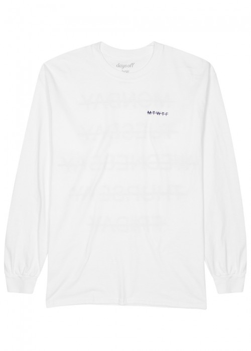 Days Off  DAYS OFF DO WEEKEND WHITE COTTON TOP