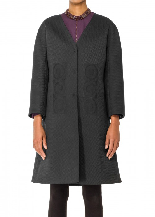 EMBROIDERED COCKTAIL COAT
