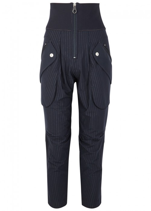 High GABOL PINSTRIPED JERSEY TROUSERS