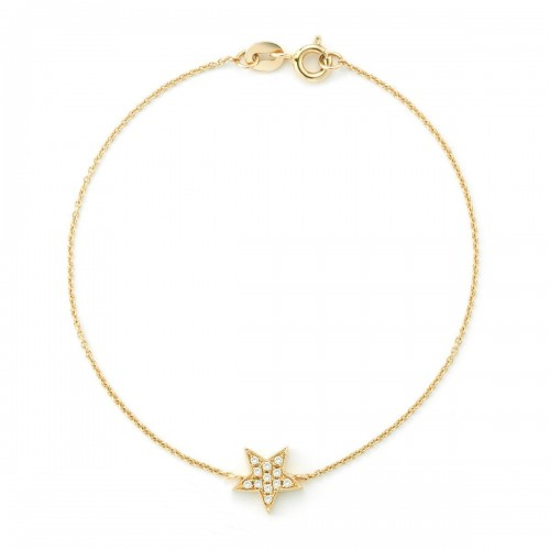 DANA REBECCA 14Ct Yellow Gold Star Bracelet