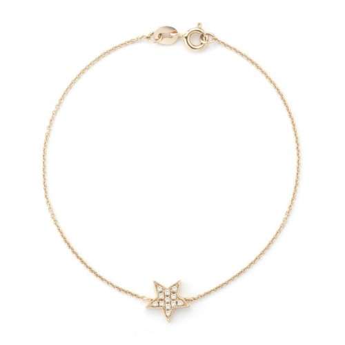 DANA REBECCA 14Ct Rose Gold Star Bracelet